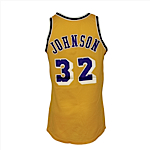 Circa 1984 Magic Johnson Los Angeles Lakers Game-Used & Autographed Home Jersey (JSA)