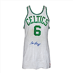 Mid 1960s Bill Russell Boston Celtics Game-Used & Autographed Home Jersey (JSA)