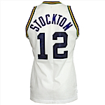 Circa 1986 John Stockton Utah Jazz Game-Used & Autographed Home Jersey (JSA)