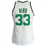 1987-1988 Larry Bird Boston Celtics Game-Used & Autographed Home Jersey (JSA)