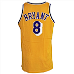 1998-1999 Kobe Bryant Los Angeles Lakers Game-Used & Autographed Home Uniform (2) (JSA)