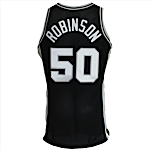 1995-1996 David Robinson San Antonio Spurs Game-Used & Autographed Road Jersey (JSA) (Team Letter)