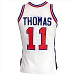 Circa 1984 Isiah Thomas Detroit Pistons Game-Used & Autographed Home Jersey (JSA)