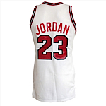 1986-1987 Michael Jordan Chicago Bulls Game-Used Home Jersey