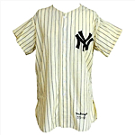 1955 Gil McDougald New York Yankees Game-Used Home Flannel Jersey