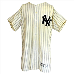 1955 Joe Collins New York Yankees Game-Used & Autographed Home Flannel Jersey (JSA)