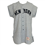 1965 Yogi Berra Issued / Art Lopez Game-Used New York Yankees Road Flannel Jersey