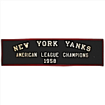 1958 NY Yankees AL Championship Banner That Hung in Milwaukee Braves Stadium