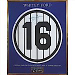 Whitey Ford NY Yankees Monument Park Autographed Retired Number & Plaque (2) (JSA)