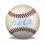Magnificent Babe Ruth Single-Signed Baseball