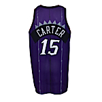 1998-1999 Vince Carter Rookie Toronto Raptors Game-Used Road Jersey