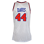 1992-1993 Hubert Davis NY Knicks Game-Used & Autographed Home Jersey (JSA)