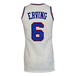 1986-1987 Dr. J Julius Erving Philadelphia 76ers Game-Used Home Jersey