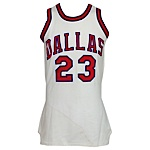1972-1973 Larry Jones ABA Dallas Chapparals Game-Used Home Jersey