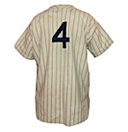 Circa 1933 Lou Gehrig NY Yankees Game-Used Home Flannel Jersey