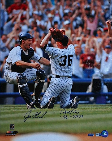 Lot of NY Yankees All-Time Historical Moments Autographed 16 x 20 Photographs (5) (Steiner) (JSA)