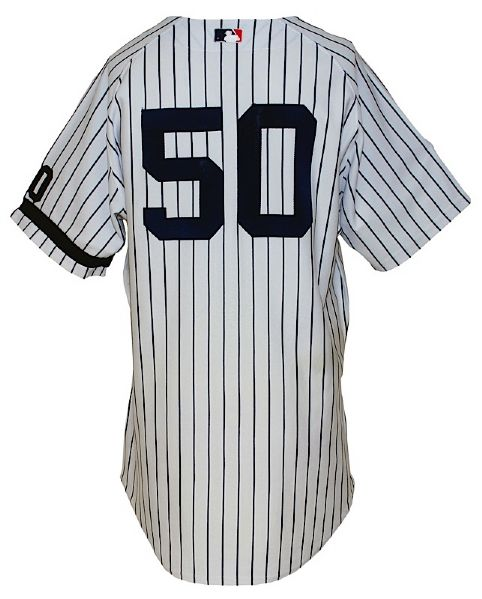 "2007 Larry Bowa New York Yankees Coaches Worn Home Jersey with Rizzuto ""10"" and Black Armband (Yankees-Steiner LOA) (MLB Hologram)"