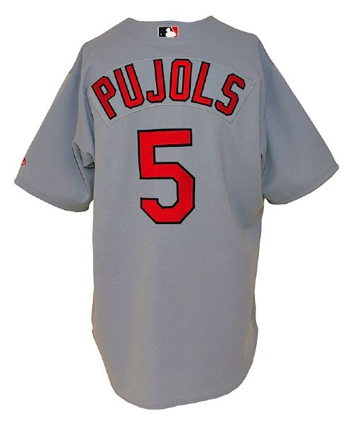 2002 Albert Pujols St. Louis Cardinals Game-Used Road Jersey (MEARS LOA)