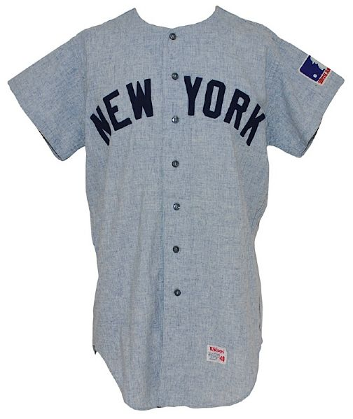 1969 Dick Howser New York Yankees Coaches Worn Road Flannel Jersey
