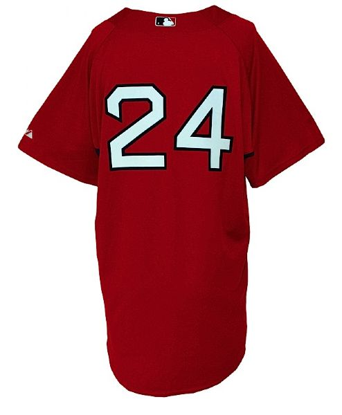 2009 Takashi Saito Boston Red Sox Worn Batting Practice Jersey (Steiner LOA) (MLB Hologram)