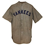 1927-1930 Benny Bengough New York Yankees Game-Used Home Flannel Jersey