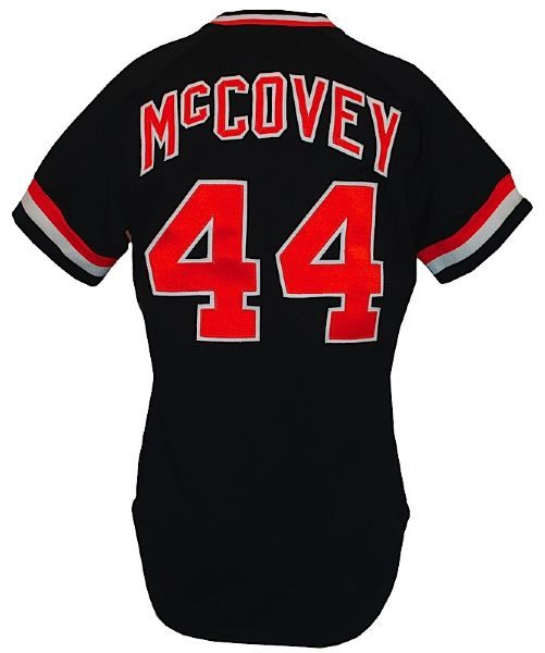 1980 Willie McCovey San Francisco Giants Game-Used Black Alternate Jersey