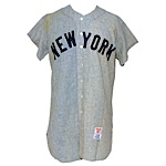 1956 Gil McDougald New York Yankees Game-Used Road Flannel Jersey