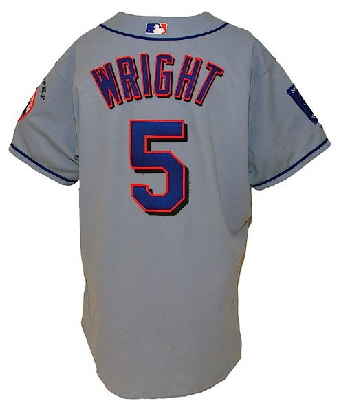 2004 David Wright Rookie New York Mets Game-Used Road Jersey