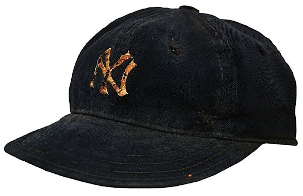 Early 1930s Frank Crosetti NY Yankees Game-Used Cap