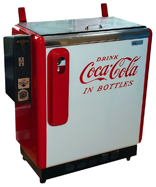 Early 1950s Coca-Cola Ideal 55 Slider Vending Machine