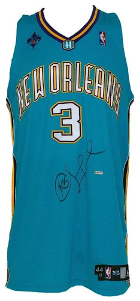 2007-2008 Chris Paul New Orleans Hornets Game Used & Autographed Road Jersey (JSA) (UDA)