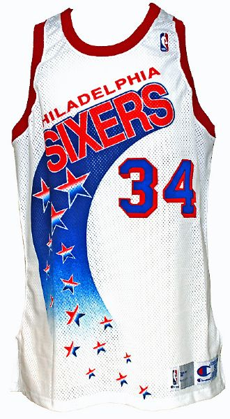 1991-1992 Charles Barkley 76ers Game-Used Home Jersey (Rare Style)