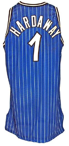 1995-1996 Penny Hardaway Magic Game-Used Road Jersey