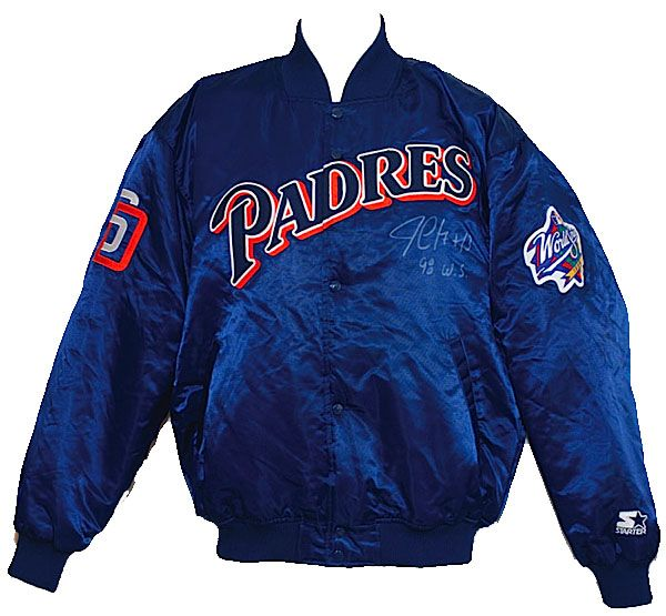 1998 Jim Leyritz San Diego Padres World Series Worn & Autographed Cold Weather Jacket (JSA)