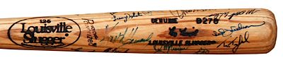 1986-1989 Ray Knight NY Mets Game-Issued Bat Autographed by the 1986 NY Mets Team (JSA) (PSA/DNA)