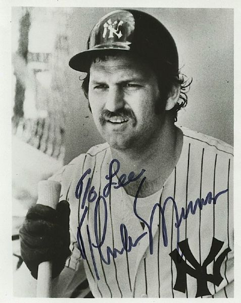 1976 Thurman Munson NY Yankees Autographed Photo with Provenance (JSA)