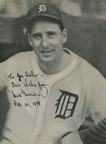 2/24/1947 Hank Greenberg Autographed Photo (JSA)