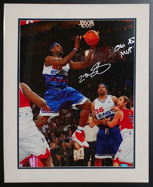 Framed LeBron James Autographed & Inscribed All-Star Photo (UDA) (JSA)