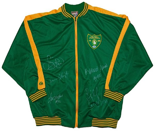 Boston Celtics All-Time Greats Autographed Jacket (JSA)