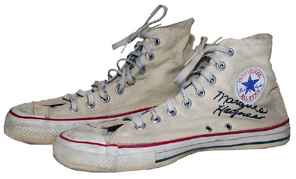 Marques Haynes Harlem Globetrotters Game-Used & Autographed Sneakers (JSA)