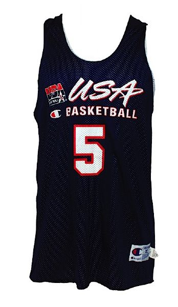1996 Jason Kidd USA Basketball Summer Olympics Worn Practice Jersey