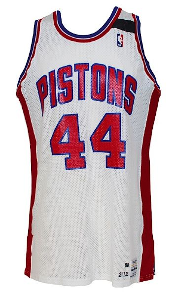 1988-1989 Rick Mahorn Detroit Pistons Game-Used Home Jersey (Championship Season)
