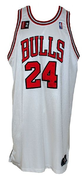 2008-2009 Tyrus Thomas Chicago Bulls Game-Used Home Jersey (Bulls LOA) (Kerr/Van Lier Patch)