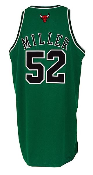 2008-2009 Brad Miller Chicago Bulls Game-Used St. Patrick's Day Jersey (Bulls LOA) (Kerr/Van Lier Patch)