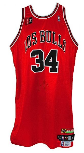 "2008-2009 Aaron Gray Chicago Bulls Game-Used & Autographed ""Los Bulls""  Road Jersey (Bulls LOA) (Kerr/Van Lier Patch)"
