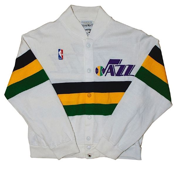 1986-1987 John Stockton Utah Jazz Worn Warm-Up Jacket/Sweater
