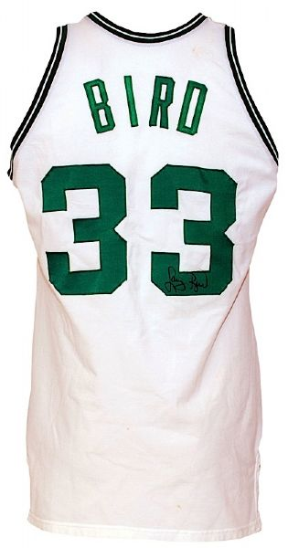 Early 1980s Larry Bird Boston Celtics Game-Used & Autographed Home Jersey (JSA)