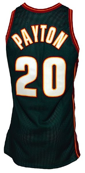 1996-1997 Gary Payton Seattle Supersonics Game-Used Road Jersey