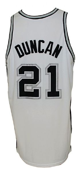 2003-2004 Tim Duncan San Antonio Spurs Game-Used Home Jersey
