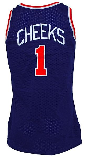 1990-1991 Maurice Cheeks New York Knicks Game-Used Road Jersey